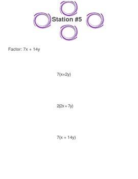 Aurasma Activity - Factoring Polynomials Using GCF