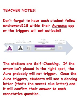 Aurasma Scavenger Hunt - Connotations