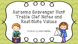Aurasma Scavenger Hunt - Treble Clef Notes and Notes/Rests