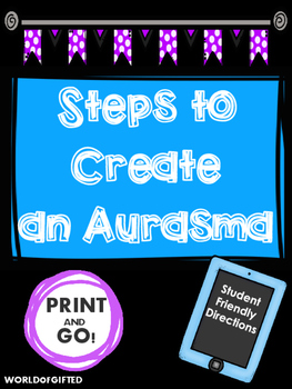 Aurasma Step by Step Directions: Student-Friendly List