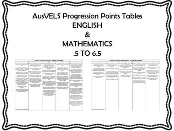 AusVELS Progression Points tables ENGLISH & MATHEMATICS .5 to 6.5