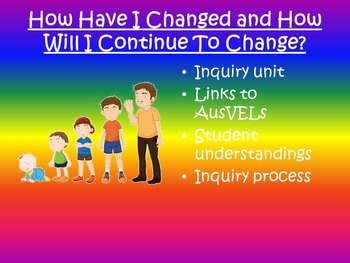 AusVELs Inquiry Unit - How have I changed and how will i continue to change?