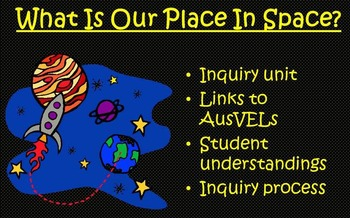 AusVELs Inquiry - What is our place in space?