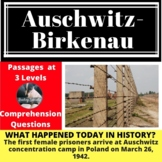 Auschwitz-Birkenau Concentration Camp Differentiated Reading Passage March 26