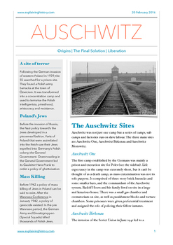 Auschwitz Holocaust Study Notes