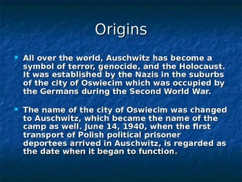 Auschwitz PowerPoint Presentation