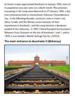 Auschwitz concentration camp Handout