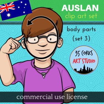 Auslan Clip Art Set - Body Parts (Set 3) - Commercial License