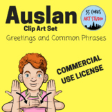 Auslan Common Phrases and Greetings - Clip Art Set (Commercial Use License)