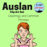 Auslan Common Phrases and Greetings - Clip Art Set (Personal Use License)