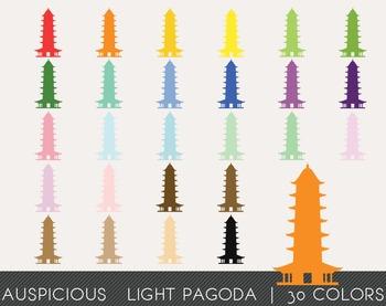 Auspicious Light Pagoda Digital Clipart, Auspicious Light Pagoda Graphics