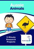5 minute projects - Aussie Animals!