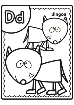 Aussie Animals Alphabet Big And Bold Coloring Pages By From The Pond
