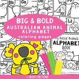 Aussie Animals Alphabet Big and Bold Coloring Pages