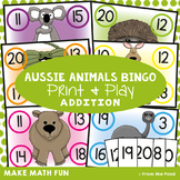 Aussie Animals Bingo - Numbers to 20