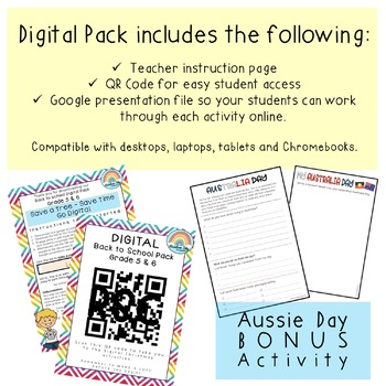 Aussie Back to School Activities { Paper + Digital } - Grade 5 & 6 Australia