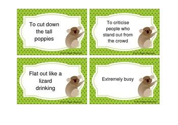 Matching Australian Idioms and Sayings