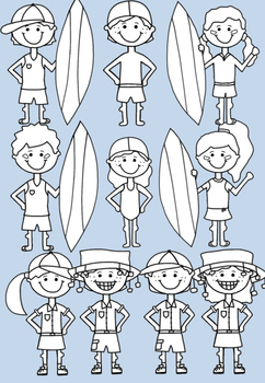 Aussie Kids Clipart - Ideal for Australia Day
