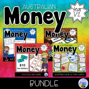 Australian Money Bundle - Posters, Task Cards, Games and W