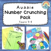 Aussie Number Crunching Pack - Multiplication and Division Activities Grade 3&4