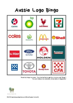 graphic about Road Trip Bingo Printable named Aussie Street Holiday Bingo Printable (Fastened of 3)