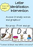 Aussie friendly letter identification intervention