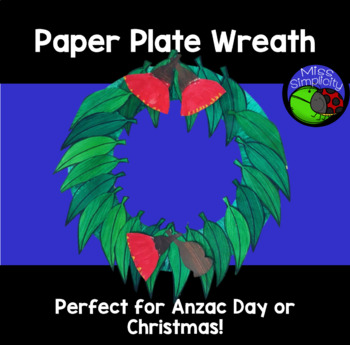 Aussie paper plate wreath - ANZAC DAY or CHRISTMAS