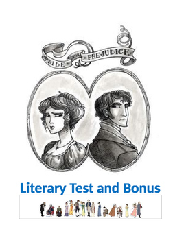 Austen ~ COMMON CORE Pride and Prejudice MASTER TEST PACKET and KEY
