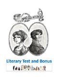 Austen ~ COMMON CORE Pride and Prejudice MASTER TEST PACKE