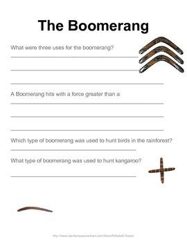 Science Activities: Austrailian Science: The Boomerang