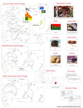 Australasia / Oceania Geography Deluxe Bundle