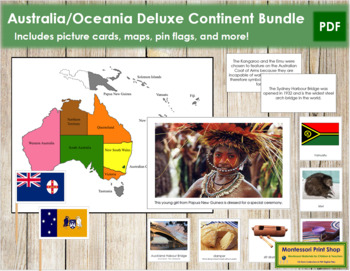 Australasia / Oceania Geography Deluxe Bundle