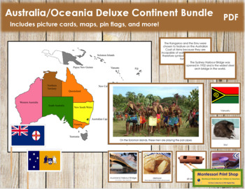 Australasia / Oceania Geography Deluxe Bundle - Color Borders