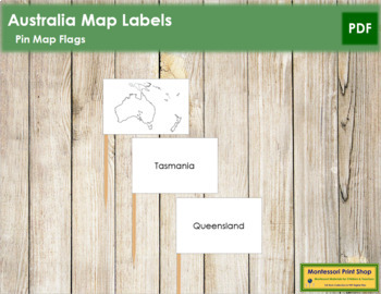 Australasia-Oceania Map Labels - Pin Map Flags