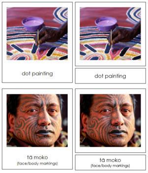 Australasian Culture: 3-Part Cards