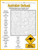All About Australia Word Search