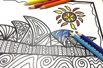 Australia Craft: Australia Colour and Draw