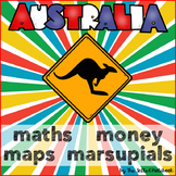 Australia Maths Money Maps Animals NO PREP Printables