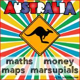 Australia Maths Money Maps Animals NO PREP Printables
