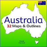 Australia: 32 Australia Maps & Outlines