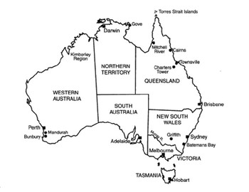 Australia Map Puzzle Printable.Australia 32 Australia Maps Outlines By The Harstad Collection