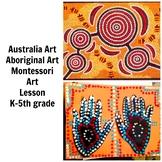Australia Aboriginal Art Lesson Montessori Grade K-5 Paint