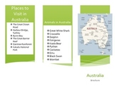 Australia Activity (Make a Brochure)
