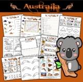 Australia Activity Set / Worksheets + Flashcards