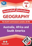 Geography: Australia, Africa and South America – Year 4