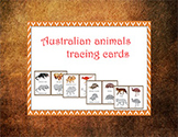 Australia: Animal of Australia Tracing cards