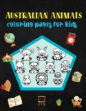 Australia Animals Coloring Pages for Kids