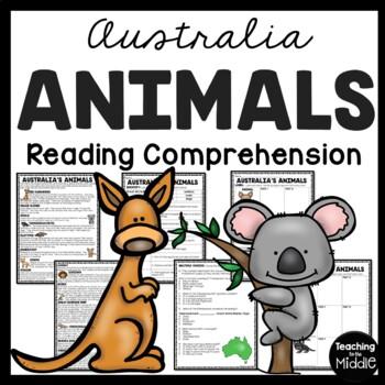 Australia Animals Reading Comprehension Worksheet