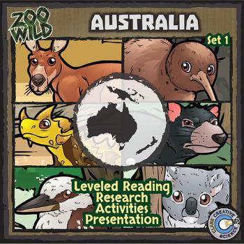 Australian Animals - Starter Bundle - Leveled Reading, Slides & Activities