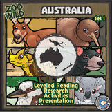 Australian Animals - Starter Bundle - Leveled Reading, Slides & Activities